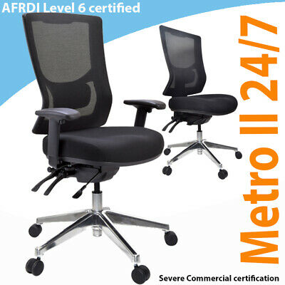 AU475 • Buy Buro Metro II  Ergonomic Chair  Aluminium Base Chair