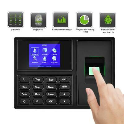 2.4in TFT LCD Fingerprint Password Recognition Attendence Machine Time Clock • 42.37£