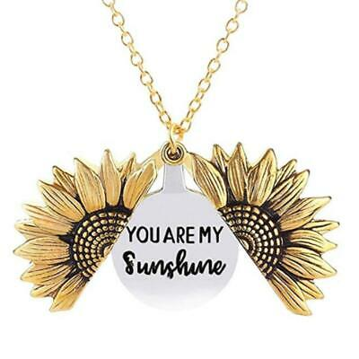 AU8.45 • Buy My Necklace Necklace Women's You Locket  Gift Sunflower Sunshine Engraved Are