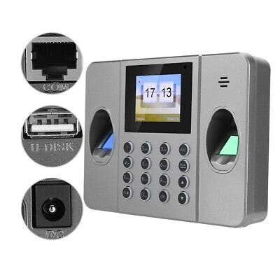 2.4in Fingerprint Time Clock Office Attendence Machine For Door Access Control • 53.01£