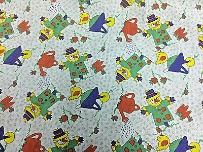The Clowns In The Blue Garden Patterned Cotton Dress Fabric 117cm Wide • 4.99£
