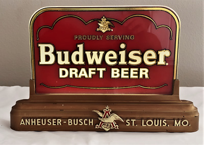 $ CDN197.72 • Buy  Vintage Budweiser Draft Beer Reverse Glass Back Lit Lighted Promo Sign, Works