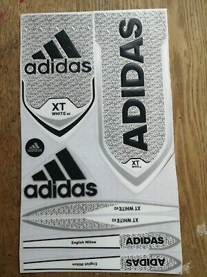 Adidas XT White & Black Cricket Bat Sticker Textured Embossed  • 99.99£