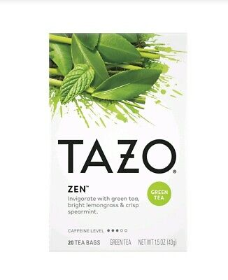 (Pack Of 2) Tazo Zen Green Tea, 20 Bags Each, 40 Total.  Fast Free Shipping • 10.22£