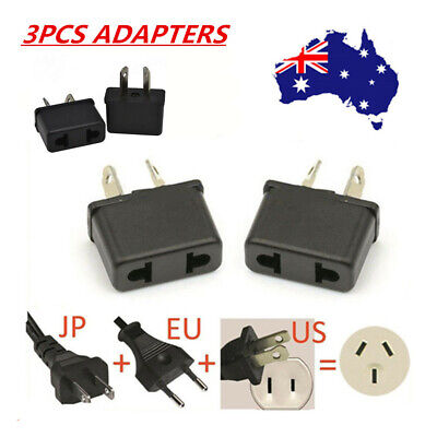 AU4.99 • Buy 3x USA US EU JAPAN ASIA To AU Australia Plug AC Power Adapter Travel Converter