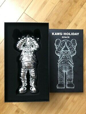 $1999.99 • Buy KAWS Holiday Space Chrome Silver Rare Limited Bearbrick 2020