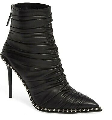 AU720.24 • Buy Alexander WANG ERI SOFT RUCHED STUDDED SEXY POINTY TOE BOOTS EU 40 I LOVE SHOES