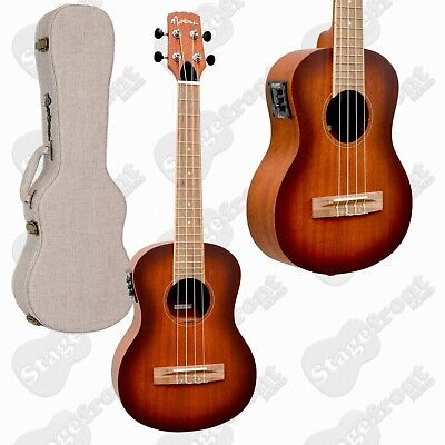 AU279 • Buy Martinez Solid Top Acoustic-electric Tenor Ukulele With Hard Case *brand New*