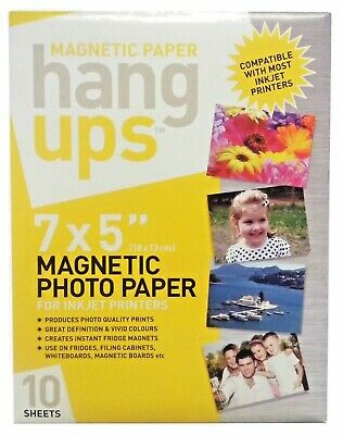 £5.99 • Buy 7x5  Magnetic Photo Paper For Inkjet Printers - 10 Sheets Of Magnetic Paper
