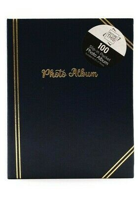 £6.89 • Buy Black - 6x4 Inch Photo Album Slip In Holds 100 Photos - Traditional