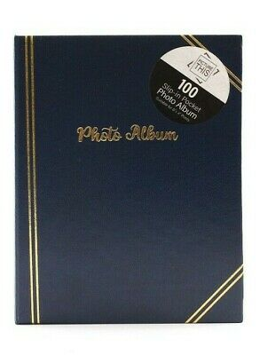 £6.89 • Buy Blue - 6x4 Inch Photo Album Slip In Holds 100 Photos - Traditional