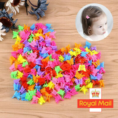 £2.58 • Buy 20/50X Cute Butterfly Hair Clips Mixed Color Mini Hairpins Hair Claws For Girls