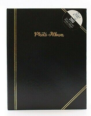 £8.99 • Buy Black - 6x4 Inch Photo Album Slip In Holds 200 Photos - Traditional