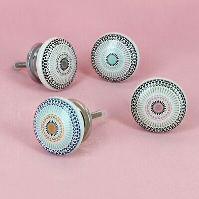 Positive Energy  Ceramic Door Knobs Vintage Shabby Chic Cupboard Pull Handles  • 3.49£
