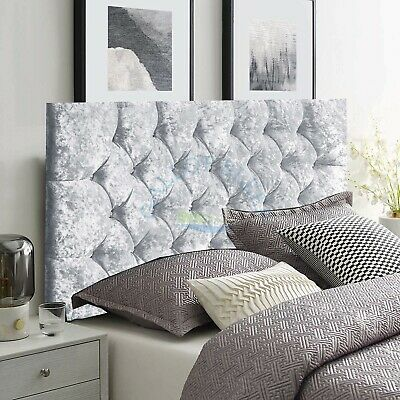 Headboard Chesterfield In Crush Velvet 20  High -| Single | Double | Kingsize |  • 38.49£