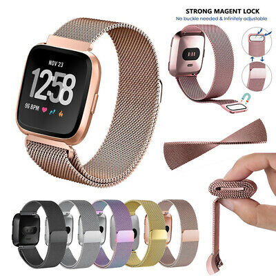 $ CDN10.57 • Buy For Fitbit Versa Milanese Stainless Steel Metal Replacement Strap Watch Band UK