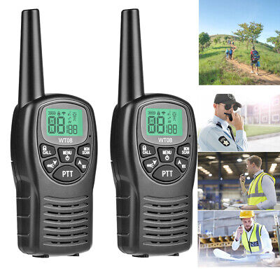 $ CDN40.06 • Buy 2PCS Long Range Walkie Talkie 2-Way Radio 8 Channels Flashlight LCD Screen VOX