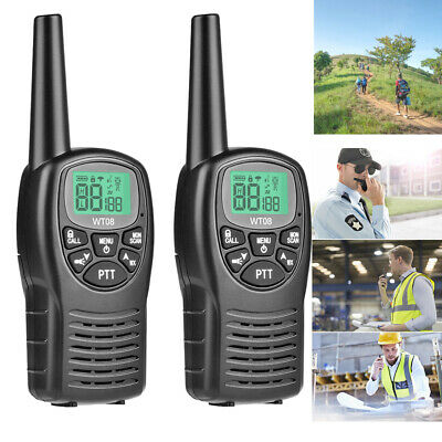$ CDN40.50 • Buy 2PCS Long Range Walkie Talkie 2-Way Radio 8 Channels Flashlight LCD Screen VOX