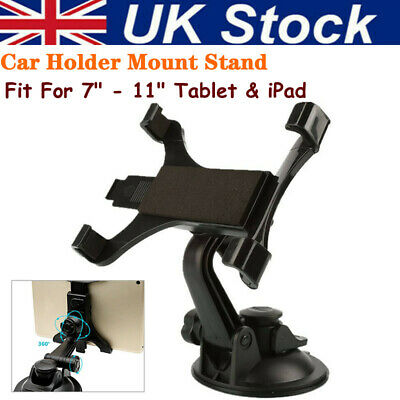 Universal In Car Suction Mount 360° Holder IPad & Samsung Galaxy Tablet 7 To 11  • 9.29£