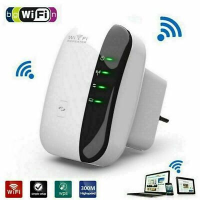WiFi Signal Repeater Extender UK Plug Range Booster Internet Network Amplifier • 13.74£