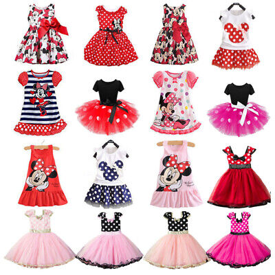 AU22.89 • Buy Minnie Mouse Kids Girls Birthday Party Costume Ballet Tutu Dress Summer Clothes