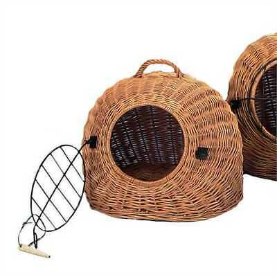 Wicker Cat Carrier 2 Sizes With Metal Lattice Perfect For Trips To The Vet & Car • 54.99£