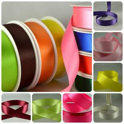 Double Satin Ribbon X 5 Metre Rolls 7mm,10mm,15mm,25mm All Colours • 2.99£