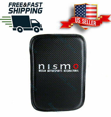 $24.99 • Buy For JDM NISMO Carbon Car Center Console Armrest Cushion Mat Pad Cover Embroidery