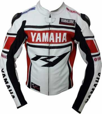 Yamaha R1 Motorbike Original Cowhide Leather Jacket With CE Approved Protections • 119.99£