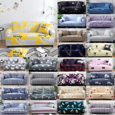 AU46.99 • Buy 1234 Seater Stretch Sofa Cover Couch Lounge Recliner Slipcover Protector Floral