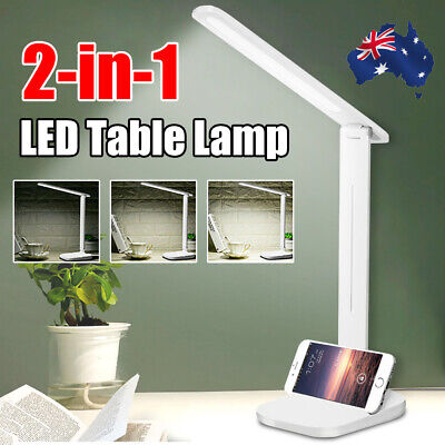 AU13.04 • Buy Touch LED Desk Lamp Bedside Study Reading Table Light Dimmable USB 3-Level Modle