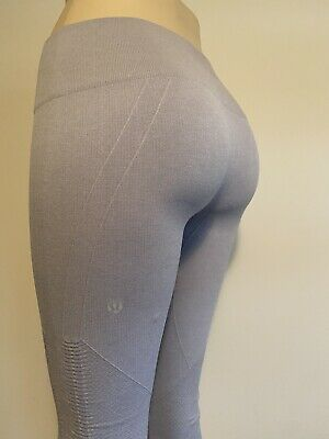 $ CDN40 • Buy EUC Lululemon In The Flow Crop ❤️Size 6❤️Grey Titanium  Ebb Train Wunder