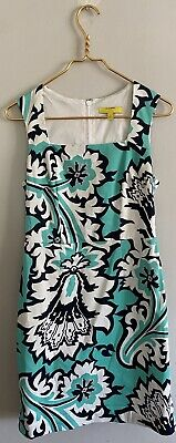 £18.71 • Buy Banana Republic Milly Collection Teal Eden Rock Printed Sheath Dress Size 4