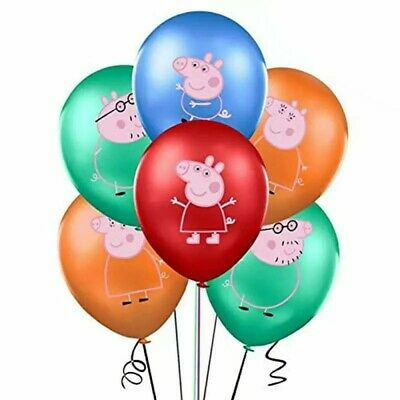 Peppa Pig George Family Cartoon Latex Balloons Banner Bunting/Flag Party Decor • 3.79£