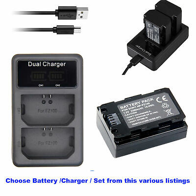 $ CDN7.83 • Buy NP-FZ100 Battery OR LED USB Charger For Sony A7S3 A7III A7 A7SM3 /a7S III CAMERA