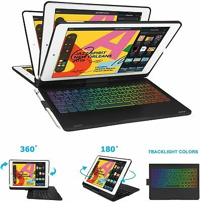 AU60.99 • Buy Case For IPad 10.2 7th/8th Gen 2019 Rotating Keyboard Stand Cover W/Pen Holder