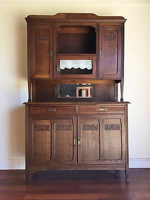 AU765 • Buy Antique French Art Deco Oak Dresser Buffet Sideboard Carved - Ok142