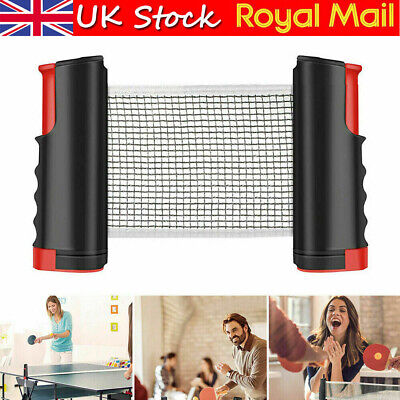 Retractable Table Tennis Net Kit Indoor  Pong Games Replacement Set Portable • 6.85£