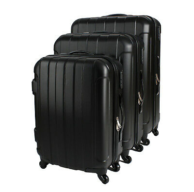 Lightweight 3 Piece Travel Luggage Wheel Trolley Suitcase Bag Hard Shell ABS • 43.50£
