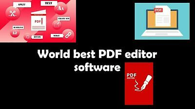 PDF Editor ,Creator, Edit Viewer And Reader With Lifetime Key 2 In 01 • 3.48£