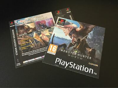 AU11.19 • Buy Monster Hunter World PS4 Fan Custom PlayStation PS1 Style Covers Iceborne