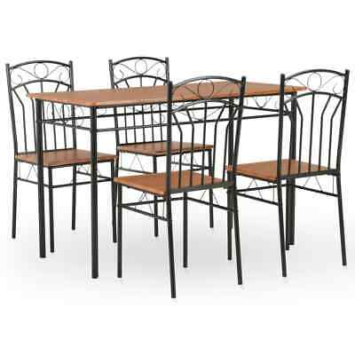 AU246.95 • Buy 5 Pcs Dining Set Steel Frame Table And Chairs 4 Seater Dinner Kitchen Furniture