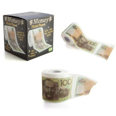 AU14.95 • Buy Toilet Paper $100 Aussie Note-Australian Currency In A Toilet Roll-Gags For Days
