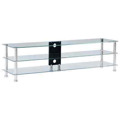 AU140.95 • Buy Glass TV Stand Modern Television Plasma Table Entertainment Cabinet Storage Unit
