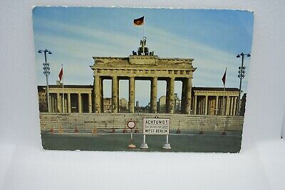 Berlin Wall Postcard. 'Caution You Are Leaving West Berlin' • 7.50£