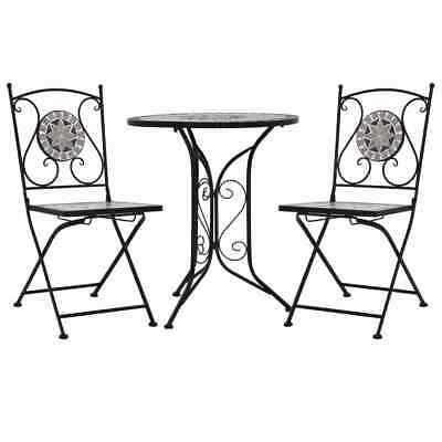 AU230.95 • Buy Bistro Set 3 Pcs Outdoor Patio Setting Garden Furniture Balcony Table And Chairs