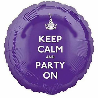 X-5 Party Balloons Keep Calm Party On 17  Foil Helium Balloon Cheapest On EBay • 2.49£