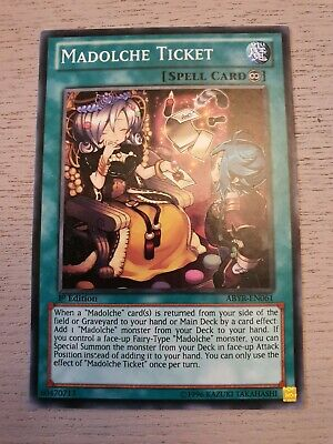 Yu-Gi-Oh! Madolche Ticket, ABYR-EN061, Common, Near Mint 1st Edition  • 2.14£