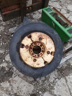 Pair Of 6.50-16 Massey Ferguson Combine Tractor Front Weighted Wheels • 120£