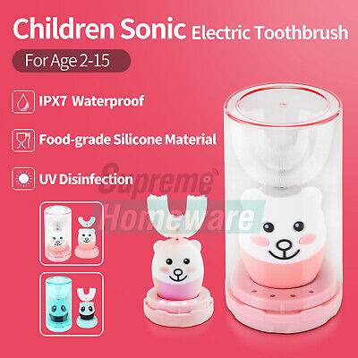AU42 • Buy Kids Children Sonic Electric Auto Toothbrush U-type 3 Modes Teeth Clean Age 2-15